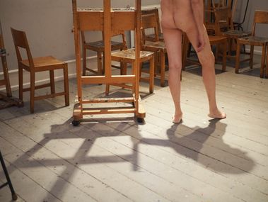 Wooden chairs and the artist's muse